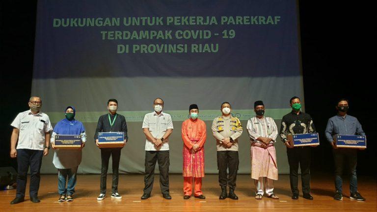 Kemenparekraf Kirim Bantuan Paket Balasa kepada Pelaku Pariwisata Riau