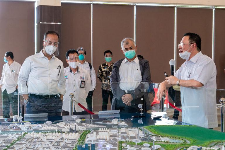 Dorong Hilirisasi, Menperin Tinjau Perkembangan Smelter Freeport di JIIPE Gresik