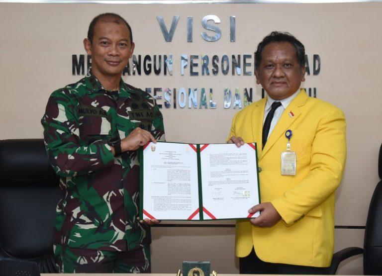 Tingkatkan Kualitas SDM, TNI AD Gandeng UI Gelar Pelatihan Kehumasan