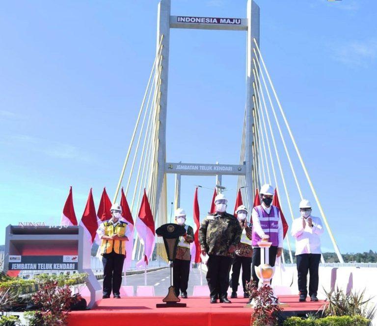 Diresmikan Presiden Jokowi, Jembatan Teluk Kendari Dukung Pengembangan Wilayah di Sultra