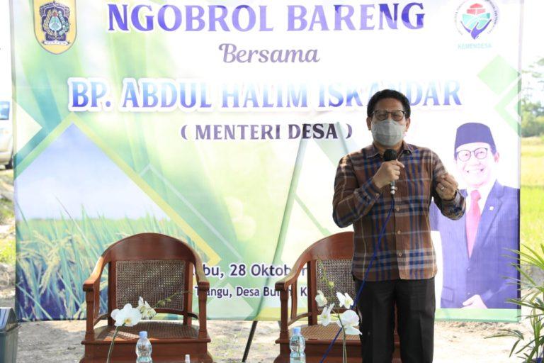 Menteri Halim ungkap Rasa Bangga ke Pendamping Lokal Desa ini