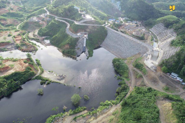 Penampakan Bendungan Tapin yang Rampung dan Mulai Diisi Air