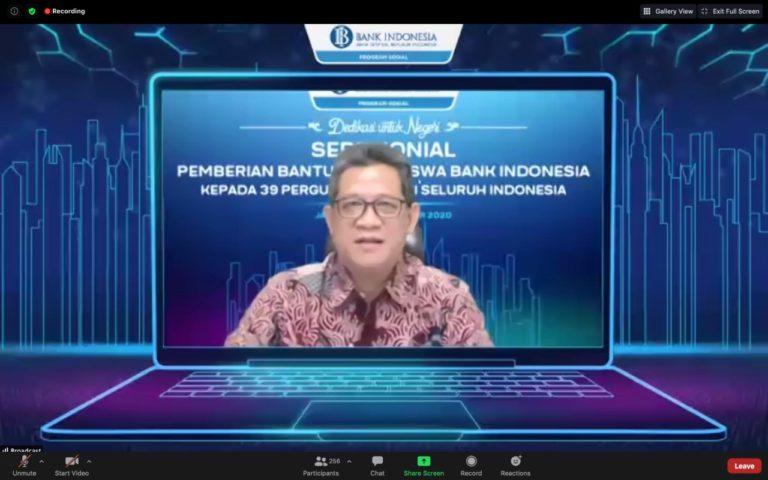 Bank Indonesia Beri Beasiswa ke 2.200 Mahasiswa di 39 Perguruan Tinggi