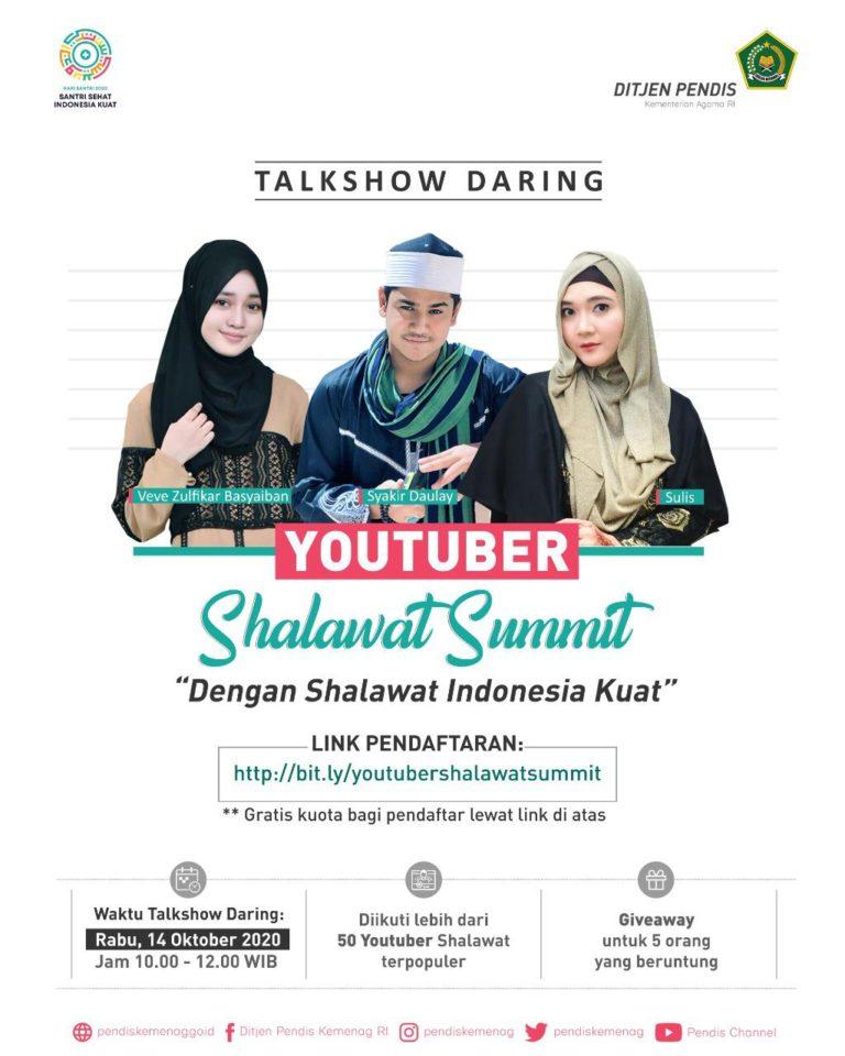 Semarakan Hari Santri 2020, Kemenag Gelar Youtuber Shalawat Summit