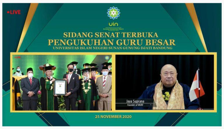 UIN Bandung Raih Rekor MURI atas Pengukuhan Guru Besar Terbanyak di Perguruan Tinggi Keagamaan