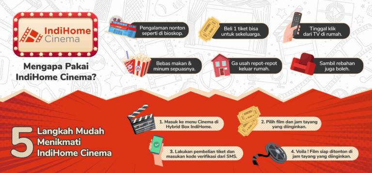 Telkom Tawarkan Sensasi Nonton Bioskop di Rumah dengan IndiHome Cinema