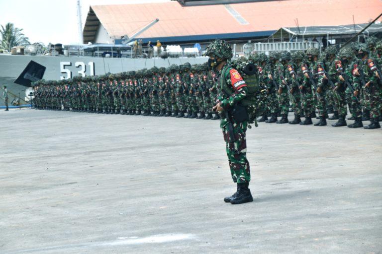 Tiba di Sumatera, Ribuan Prajurit Kostrad Siap Tempur