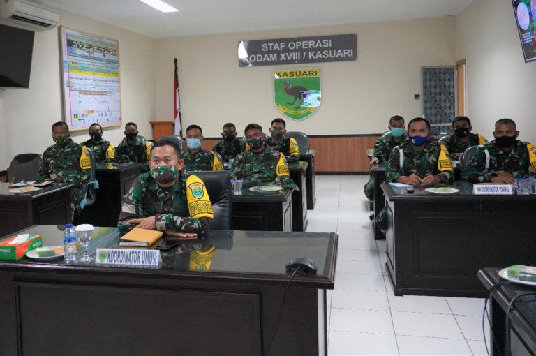 Kodam Kasuari Gelar Latihan Pengamanan VVIP Secara Virtual