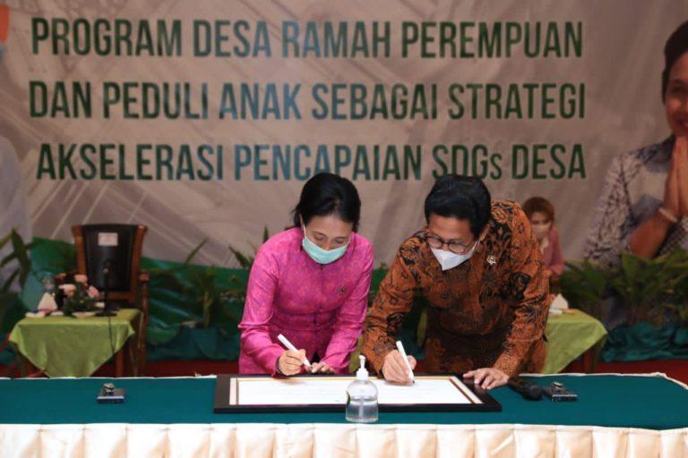 Kemendes dan KemenPPPA bangun Sinergi wujudkan Desa Ramah Perempuan