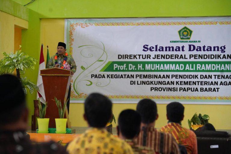 Kemenag Bangun Laboratorium Keagamaan dan Sapa Para Guru Madrasah di Daerah 3T