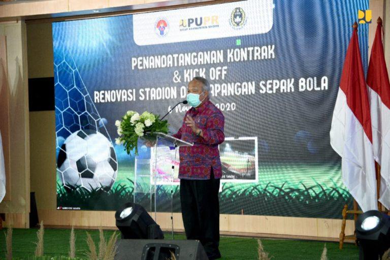 Kementerian PUPR Mulai Renovasi 2 Stadion Utama dan 15 Lapangan Sepakbola di 5 Provinsi