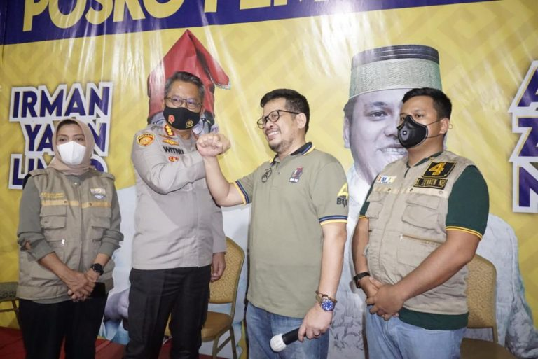 Terima Kunjungan Kapolrestabes Makassar, Irman-Zunnun Nyatakan Komitmen Wujudkan Pilkada Damai