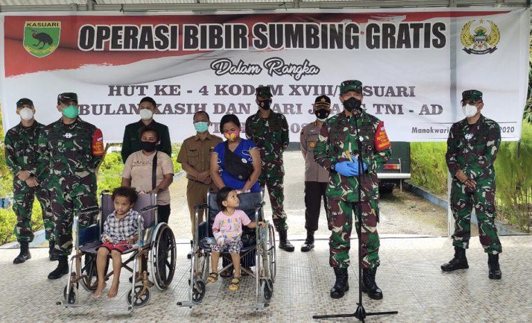 Hari Juang TNI AD 2020, Kodam Kasuari Gelar Operasi Bibir Sumbing Gratis