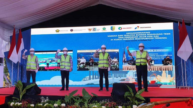 Bangun Sarfas BBM dan Pipa Gas, Sinergi Pertamina-Pelindo 1 Penuhi Energi untuk Industri di Kuala Tanjung