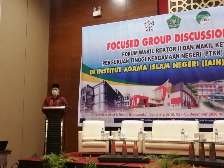 Sekjen Kemenag paparkan Pagu Alokasi Anggaran 2021 Dihadapan Pimpinan PTKIN se-Indonesia