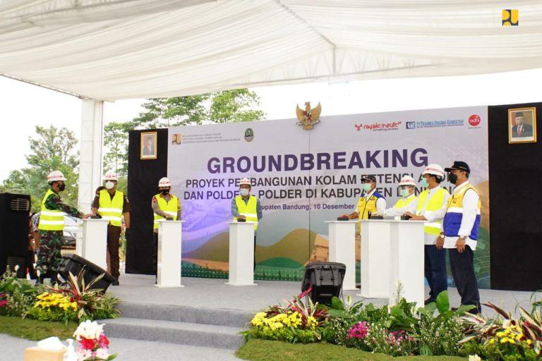 Pembangunan Kolam Retensi Andir dan Lima Polder untuk Pengendalian Banjir Cekungan Bandung Dimulai