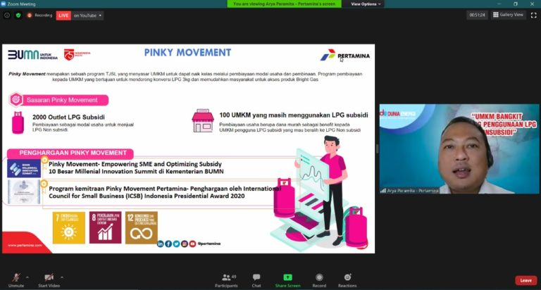 Pinky Movement: Pertamina Salurkan Rp 44,4 Miliar untuk Ratusan UMKM dan Outlet LPG