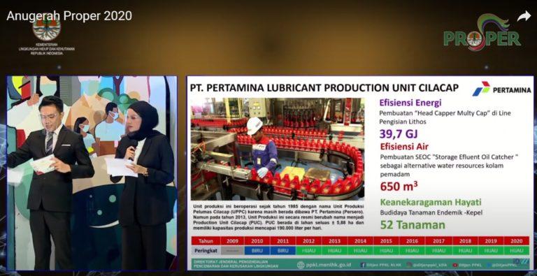 Dua Pabrik Pelumas PT Pertamina Lubricants Pertahankan PROPER Hijau