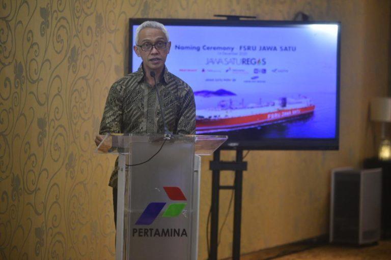 Pertamina Gelar Prosesi Penamaan Kapal FSRU Jawa Satu