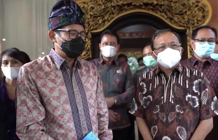 Temui Gubernur Bali, Sandiaga Janji Pulihkan Pariwisata