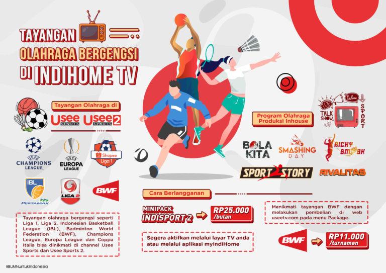Telkom kembali Hadirkan Tayangan Olahraga Bergengsi di IndiHome TV