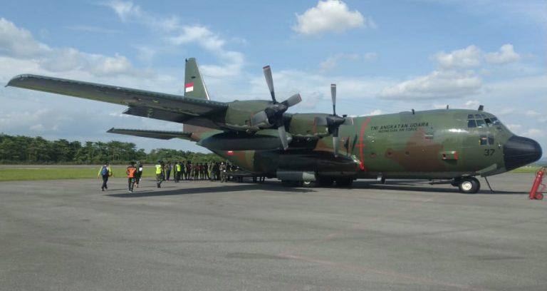 Pakai Hercules, Korem HO Kirim 9,410 Ton Bantuan untuk Korban Bencana Sulbar