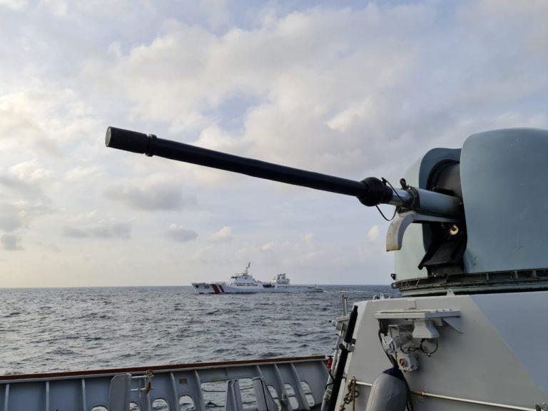 Sinergi Pengamanan Laut Natuna, TNI AL-Bakamla Gelar Latihan Bersama