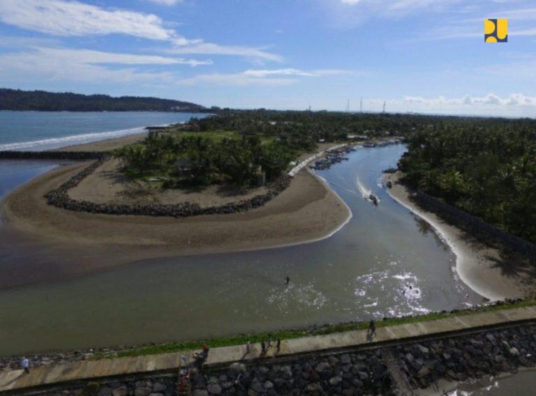 Kementerian PUPR Bangun Prasarana Pengendali Banjir Muara Sungai Cikidang Pangandaran