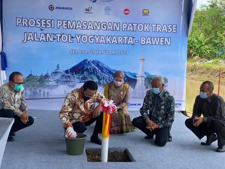 Jasa Marga Mulai Pasang Patok Trase Tol Yogyakarta-Bawen