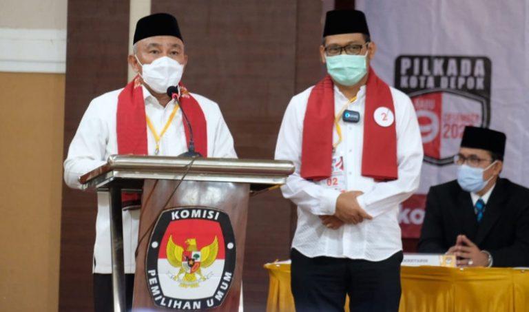 Sah! KPU Depok Tetapkan Idris-IBH Sebagai Walikota dan Wakil Walikota