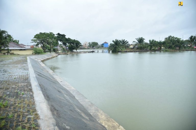 Kementerian PUPR Rampungkan Pembangunan Dua Kolam Retensi dan Normalisasi Sungai Bendung Palembang
