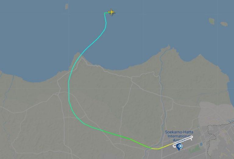 FlightRadar24: Pesawat Sriwijaya Air Hilang Kontak 4 Menit dari Jakarta