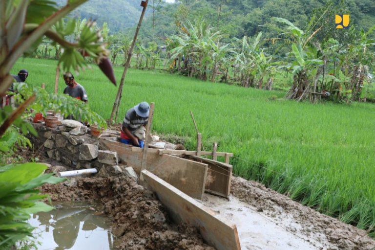 Salurkan Padat Karya P3-TGAI, Kementerian PUPR Tingkatkan Jaringan Irigasi di Pacitan
