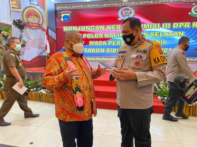 Kunker ke Kalsel, Komisi III DPR Soroti Banjir Hingga Narkoba