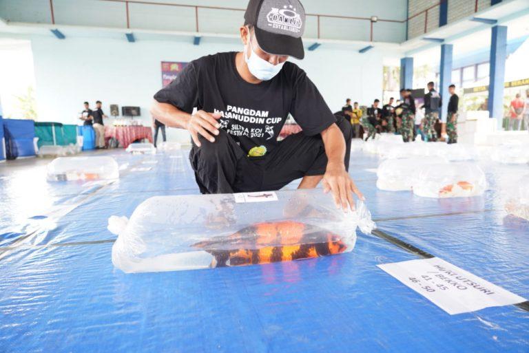 Pamerkan 449 Ikan, Pecinta Koi Sultra Akan Raih Puluhan Juta dari Pangdam Hsn