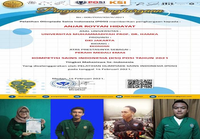 Mahasiswa FEB UHAMKA Panen Medali di Olimpiade Sains Indonesia