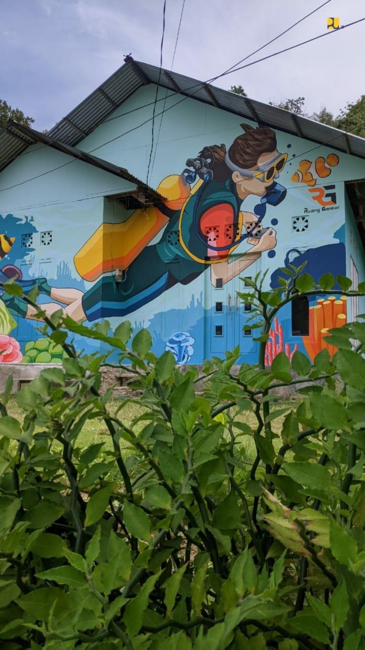 Kelurahan di Gorontalo ini jadi Wisata Baru Karena Mural Warna-Warni
