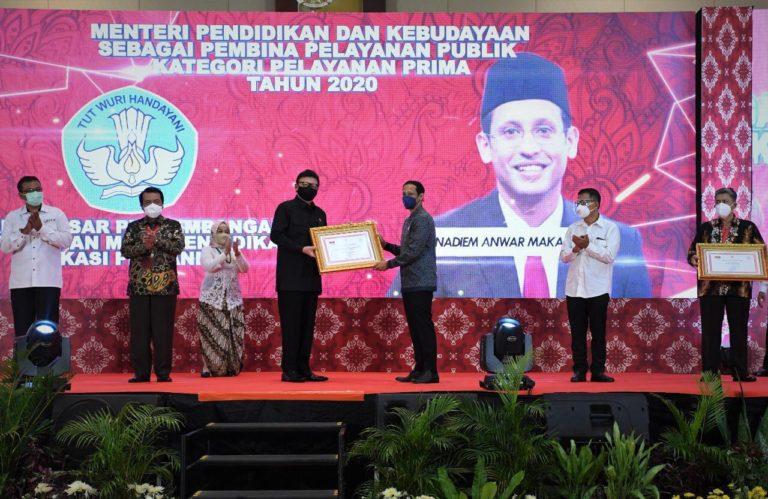 Kemendikbud Raih Dua Penghargaan Penyelenggaraan Pelayanan Publik Tahun 2020
