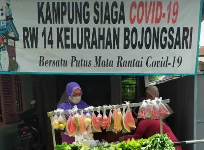 Kampung Siaga Covid-19 di Depok Ini Sediakan Buah dan Sayuran Gratis
