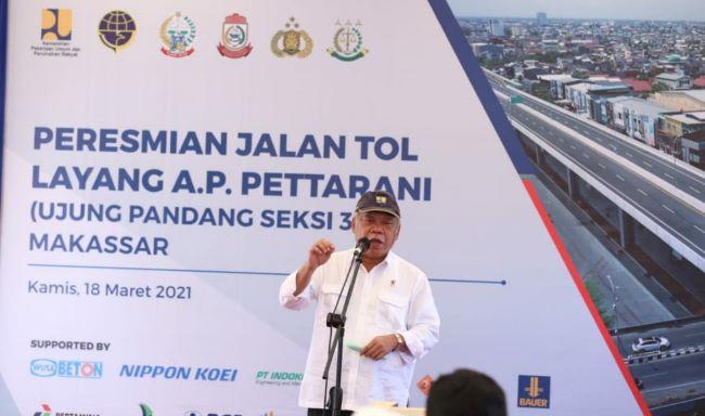 Menteri Basuki berharap Tol Layang A.P. Pettarani Perkuat Distribusi Logistik Wilayah Indonesia Timur