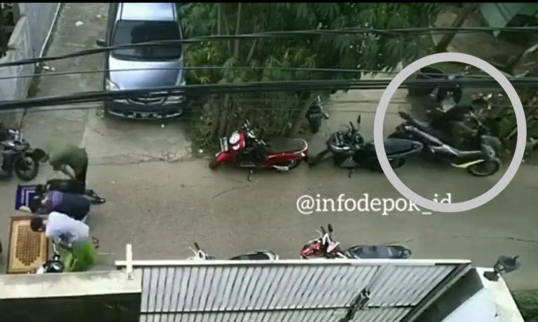 Aksi Maling Motor di Depok Terekam CCTV, Warganet: Si Pemilik Hilang NMax dapat Penggantinya Xpander