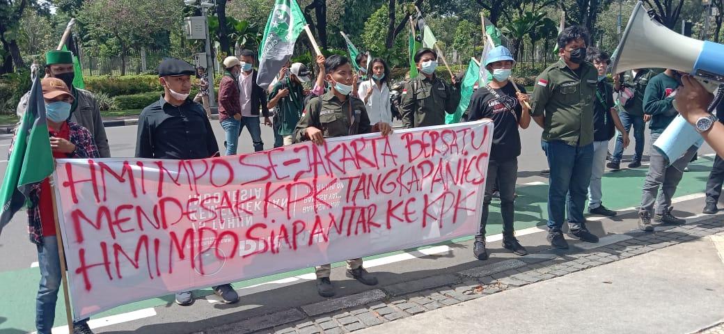 Gelar Aksi, HMI MPO Jakarta desak KPK usut Anies dan ...