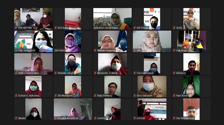 Forum e-Warong Kube PKH Gelar Rembug Virtual KPMPreneur