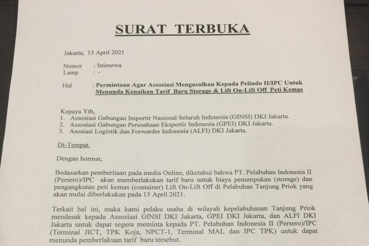 Tolak Rencana Pelindo ll, Pelaku Usaha di Tanjung Priok Buat Surat Terbuka