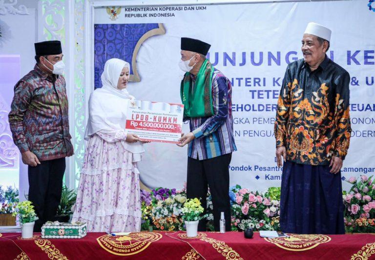 LPDB-KUMKM Gelontorkan Dana Rp4,5 M ke KSBP Sunan Drajat Lamongan