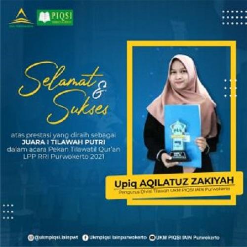 Mahasiswa IAIN Purwokerto Raih Juara 1 Tilawatil Qur'an LPP RRI Purwokerto