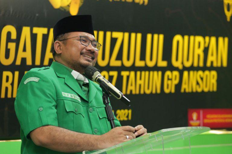 Gus Yaqut: Pandemi Kian Perkuat Transformasi Dakwah GP Ansor