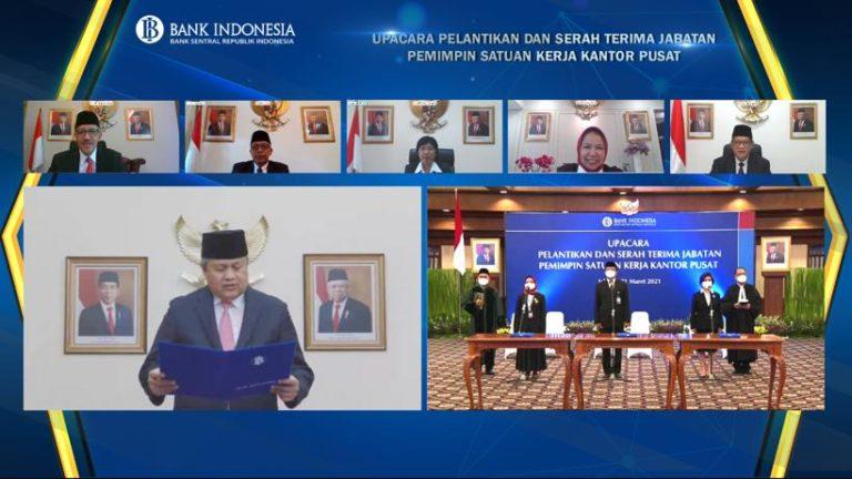 Gubernur BI Lantik 3 Pemimpin Satuan Kerja Baru