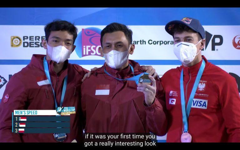 Keren! Atlet Indonesia kembali Pecahkan Rekor di Piala Dunia Panjat Tebing