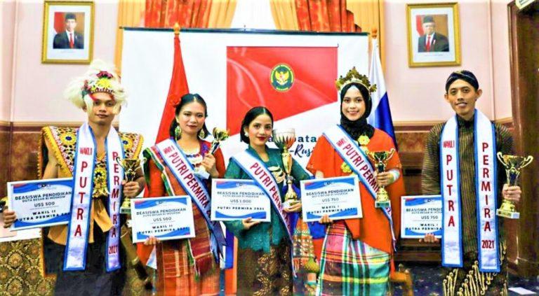 Peringati Hardiknas, KBRI Moskow Nobatkan Dua Mahasiswa Indonesia Sebagai Permira 2021